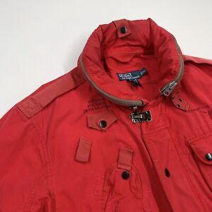 Vintage Polo Ralph Lauren (XL) Red 1967 USRL Naval Station Canvas Jacket