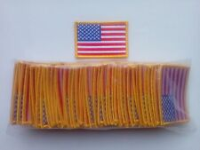"100 Pcs USA American Flag (G) Embroidered Patches 3""x2"" iron-on, Special Price."