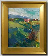 JOSE TRUJILLO - Oil Painting Modern CALIFORNIA Impressionist PASTORAL HILLSIDE