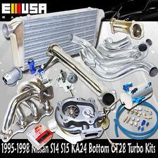 240sx S14 15 KA24 MANIFOLD+Elbow+Downpipe+Intercooler Kit GT30 Bolt On TurboKit