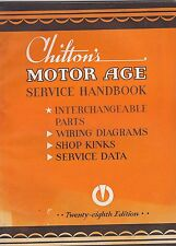 1940s CHILTONS MOTOR AGE SERVICE HANDBOOK car magazine