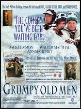 GRUMPY OLD MEN__Original 1994 Trade AD movie promo__WALTER MATTHAU__ANN-MARGRET