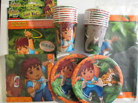 GO DIEGO GO Wild Animals Rescue - Birthday Party Supply Pack Kit w/ Loot Bags