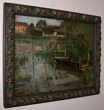 Stimmungsimpressionismus um 1900-20. Am Fluss. (Alte Donau?)