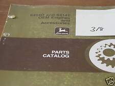 John Deere 6414D 6414T Engine dealer's parts book