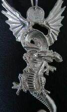 LOOK Big Huge Fire breathing Dragon Pendant Charm New Sterling Silver .925 Jewel