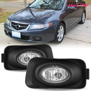 For 2004-2005 Acura TSX OE Factory Fit Fog Light Bumper Kit Clear Lens