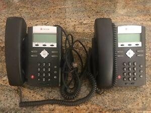 2 Polycom Phones Model  Soundpoint IP 330 SIP Rev L  2201-12330-001 NO AC/DC