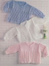 Baby Toddler knitting pattern Matinee Jackets 3 Styles 8 ply