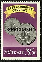 St. Vincent #1077 MNH Specimen CV$0.60 East Caribbean Currency Coins Perf 15