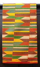 African Kente Print Ethnic Ghanian Fabric New Unique Bright Colors Sold per yard