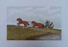 HADDELSEY Vincent - course attelage -  Lithographie signée / numérotée #100ex