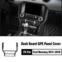 Neu Für Ford Mustang 15-19 Carbon Schwarz Mittelkonsole Dekor Abdeckleiste Trim