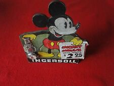 Vintage Rare Disney Ingersoll Mickey Mouse Watch Sign and Working Watch