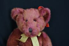 Russ Berrie Bears Of The Past Tinker Multi Color Red & Gold Plush Teddy Bear 14""