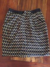 FEI Anthropologie Black Beige Silk Washi Draped Wrap Pencil Skirt Sz 8 N210