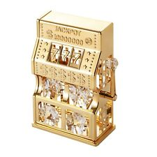 Swarovski Crystal Elements Studded Slot Machine Figurine 24K Gold Plated