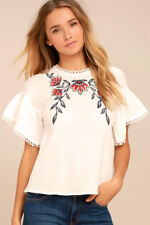 Del Mar White Embroidered Top Moon River - XS Amazing summer top!