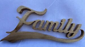 Carved Wall Hanging Family Sign Carved From Elm
