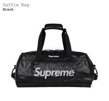 New Supreme Duffle Bag 100D Cordura Ripstop Nylon 3M Logo Black Fall Winter 2017