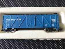N-scale WABASH Wood Box Car Blue
