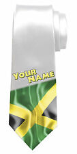 JAMAICAN FLAG PERSONALISED NECK TIE *ANY NAME/TEXT COLOUR *MEN'S GIFT/PRESENT*
