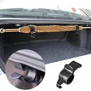 2Pc Universal Car Trunk Mounting Bracket Umbrella Holder Hook Car Fittings Black