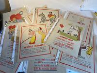 Lot Of Vintage Vinegar Valentines Some Duplicates