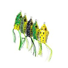 2 Pcs Lifelike Fishing Frog Lures for Bass Musky Pike Dogfish Snakehead Fishing