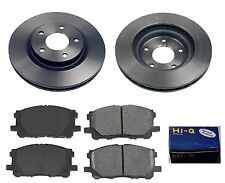 Front Ceramic Brake Pad Set & Rotor Kit for 2009 Mitsubishi Lancer DE-ES-GTS-SE