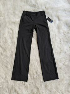 Cue Black Wide Leg High Rise Work Pants Size 6 BNWT