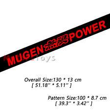 (1) Red Color JDM Mugen Power HF Sun Visor Windshield Vinyl Car Sticker Decal