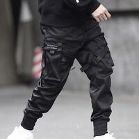 Men Multi-pocket Cargo Combat Harem Pants Street Hip-hop Loose Jogger Trousers