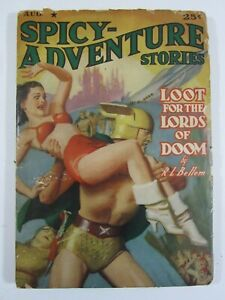 Spicy Adventure Stories Vol. 12 #3  August, 1940  GD  Classic Good Girl Cover!