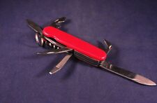"""Handy 6"""" Red Pocket Knife Multi-Tool with Key Ring GUC"""