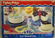 Vintage Fisher Price Fun with Play Food 4 Little Tikes 2 in 1 Musical Cake NIB