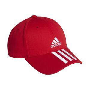 Adidas Sports Baseball 3-Stripes Twill Cap -  Red/White
