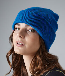 Mens Ladies Knitted Wooly Beanie Hat Warm Winter Skiing Hat Ski Wear
