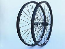 "New 26"" Geno BMX Cruiser Wheelset Black Anodize Rims All Black Wheel Set"