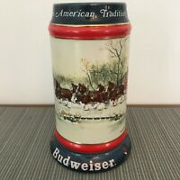 Budweiser Stein Collector's Series An American Tradition 1990 Anheuser Busch