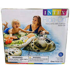 Intex 57555EP Realistic Sea Turtle Inflatable Ride-On Pool Float with Handles