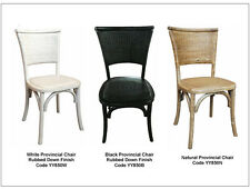 Hamptons Chair  black white natural french provincial wicker cane rattan oak