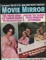 Movie Mirror June 1969 Liz Taylor Jackie Onassis Frank Sinatra Richard Burton