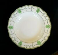 Beautiful Royal Doulton Countess Green Rim Large Rimmed Soup Bowl Circa 1920