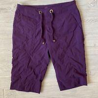 Prana stretch purple bermuda Shorts Womens Size xs