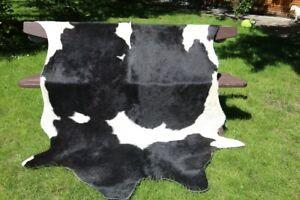 Cowskin No. 12 Black/White Cow Skin Cowhide 236x153 CM