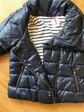 $60 BABY GAP Girls Toddler Down Quilted Puffy Jacket Parka Navy Blue Size 4 NEW