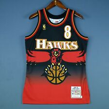 100% Authentic Mitchell & Ness Steve Smith Hawks Jersey Mens Size 48 XL Mens