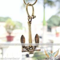 Mad Over Decor Nautical Vintage Ship Anchor With Handcuff Key Chain Key Ring Fob