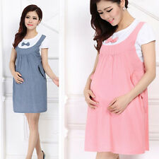 Women's Maternity Mini Dress Scoop Neck Pregnancy Women Shirtdress Free Shipping
